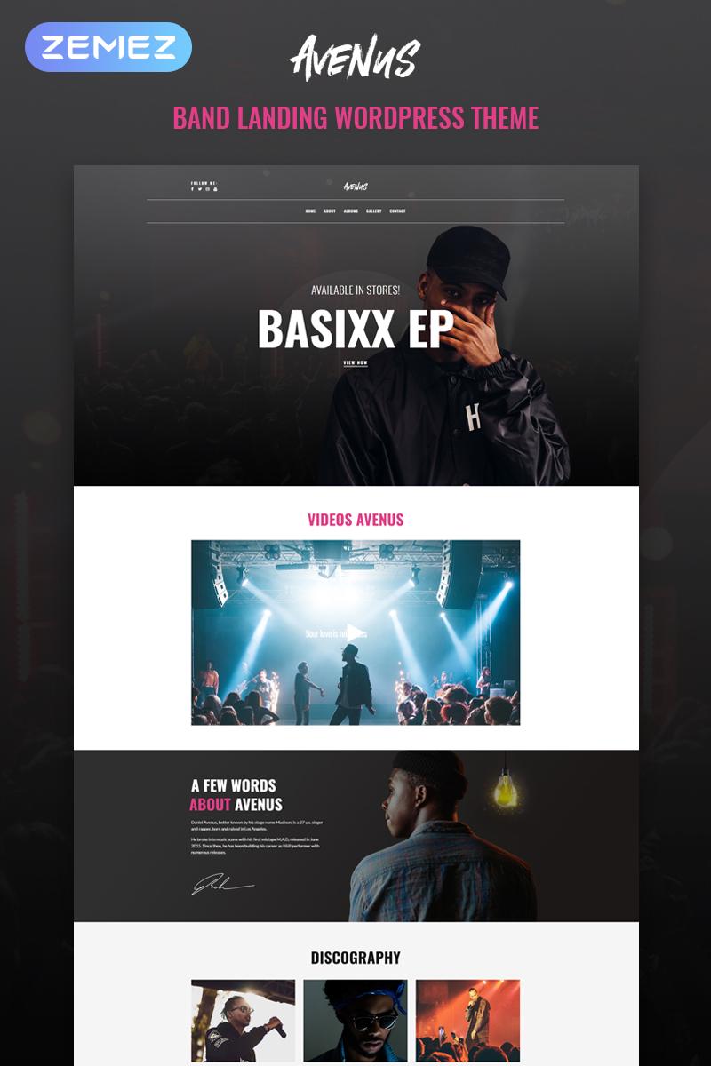 Reszponzív Avenus - Music One Page Modern Elementor WordPress sablon 80661