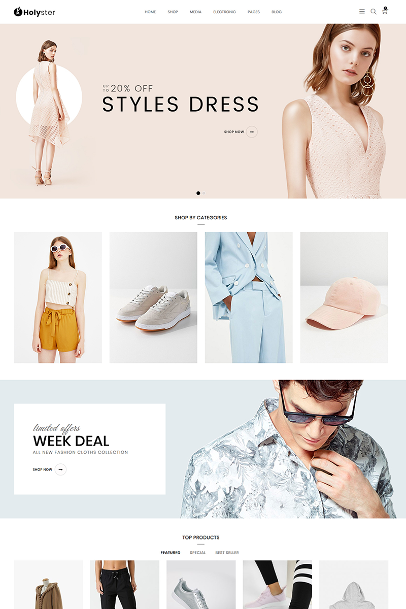 Reszponzív Holyster - Fashion WooCommerce sablon 80610