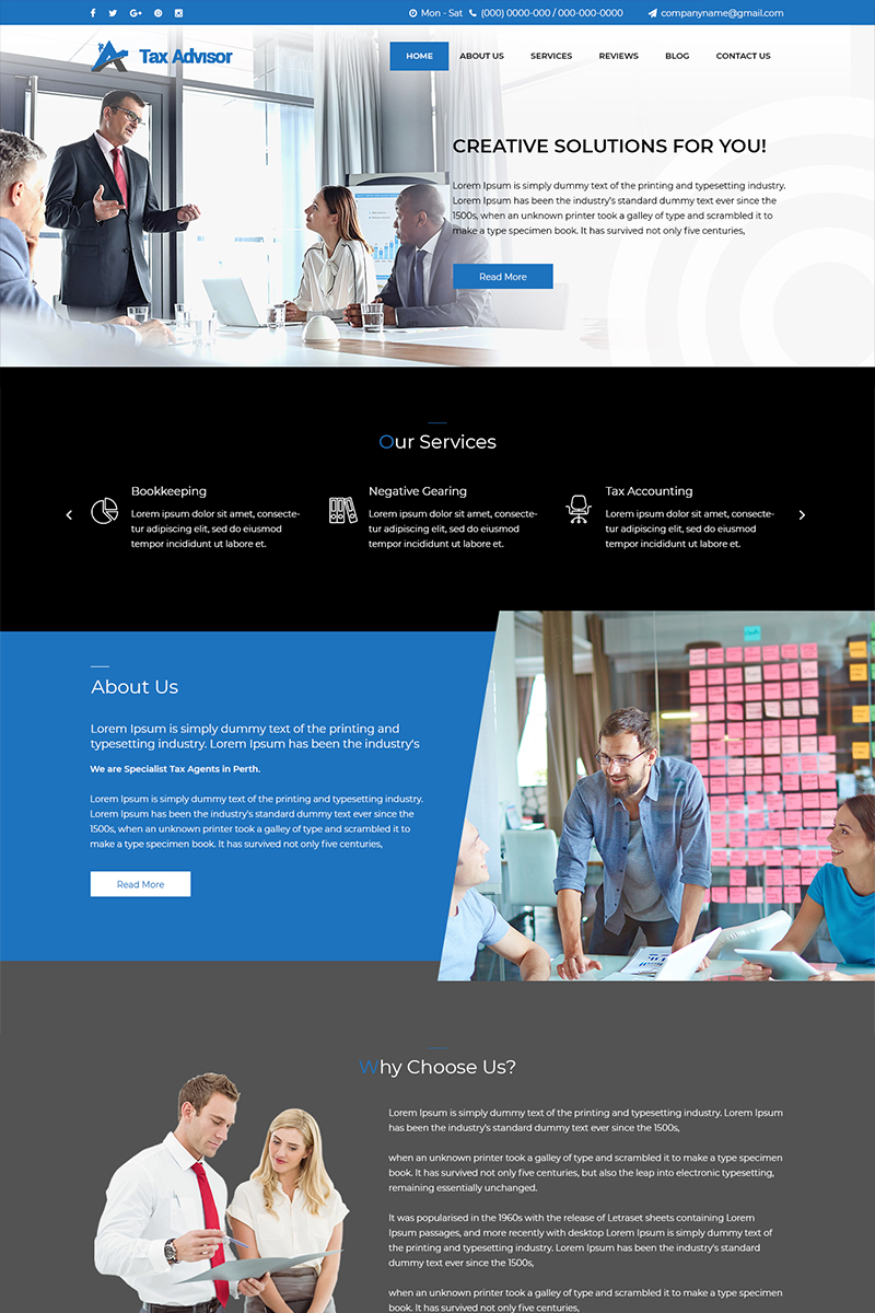 Tax Advisor - Tax Consultant PSD sablon 80645