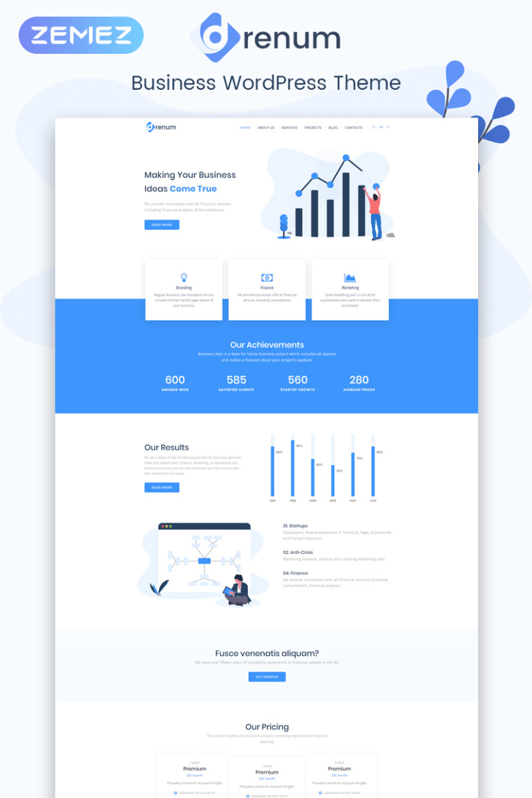 Drenum - Business Multipurpose Minimal Elementor WordPress Theme