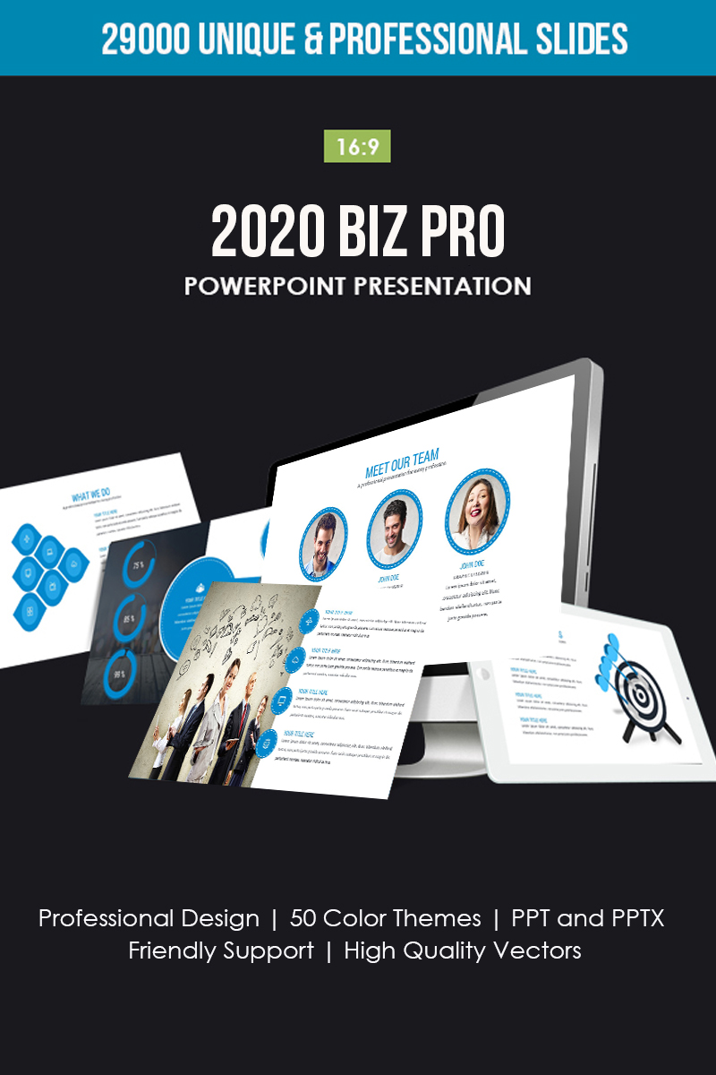 """2019 Annual Report"" PowerPoint Template №80711"