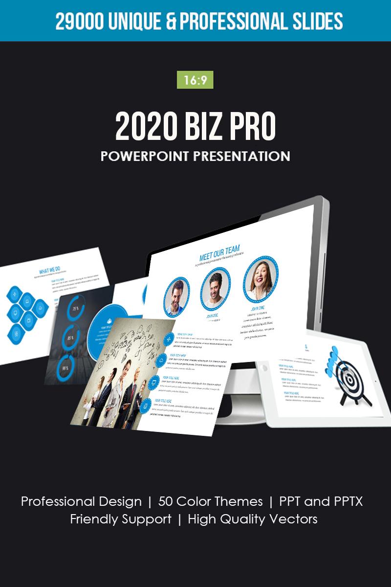2019 Biz Pro PowerPoint sablon 80762