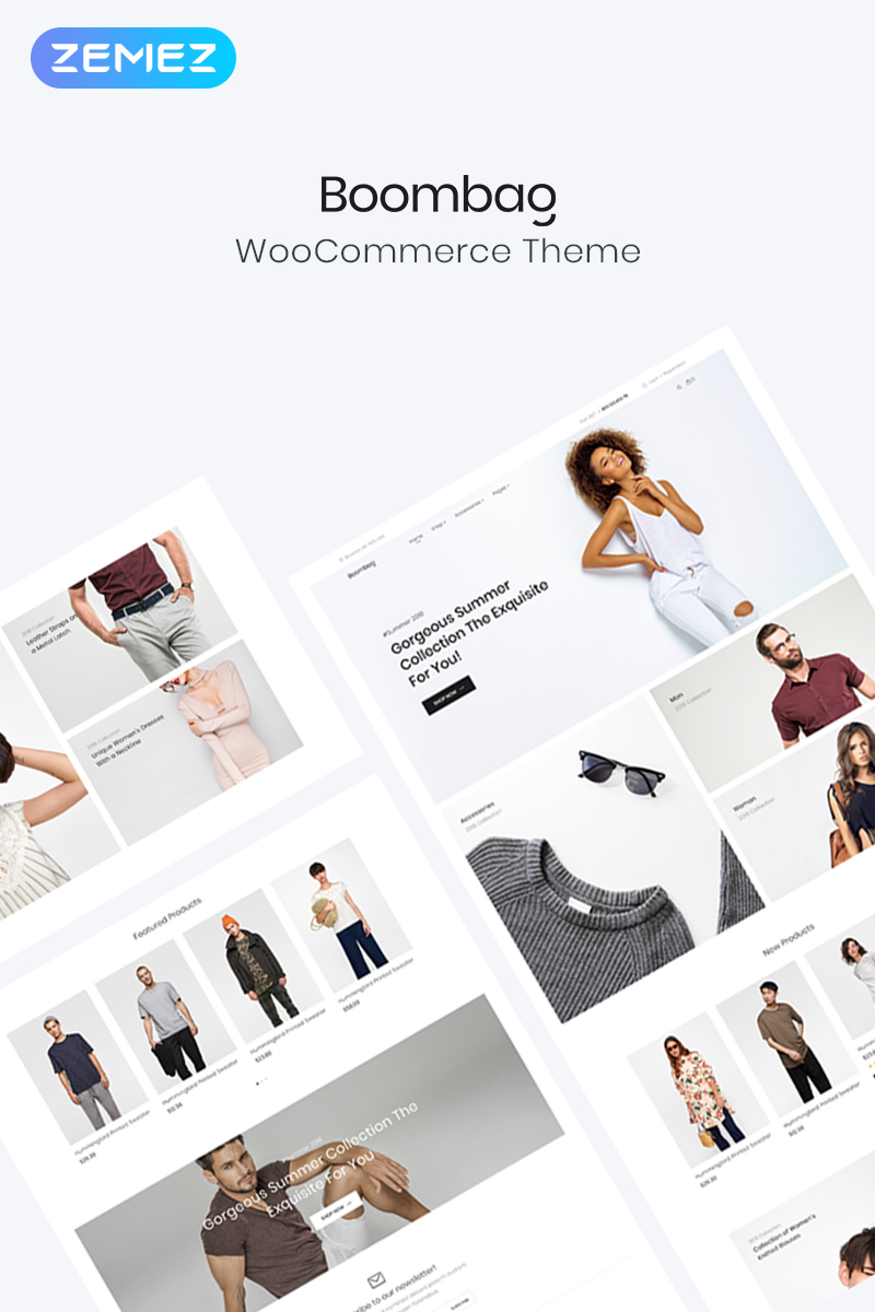 """Boombag - Apparel ECommerce Modern Elementor"" Responsive WooCommerce Thema №80766"