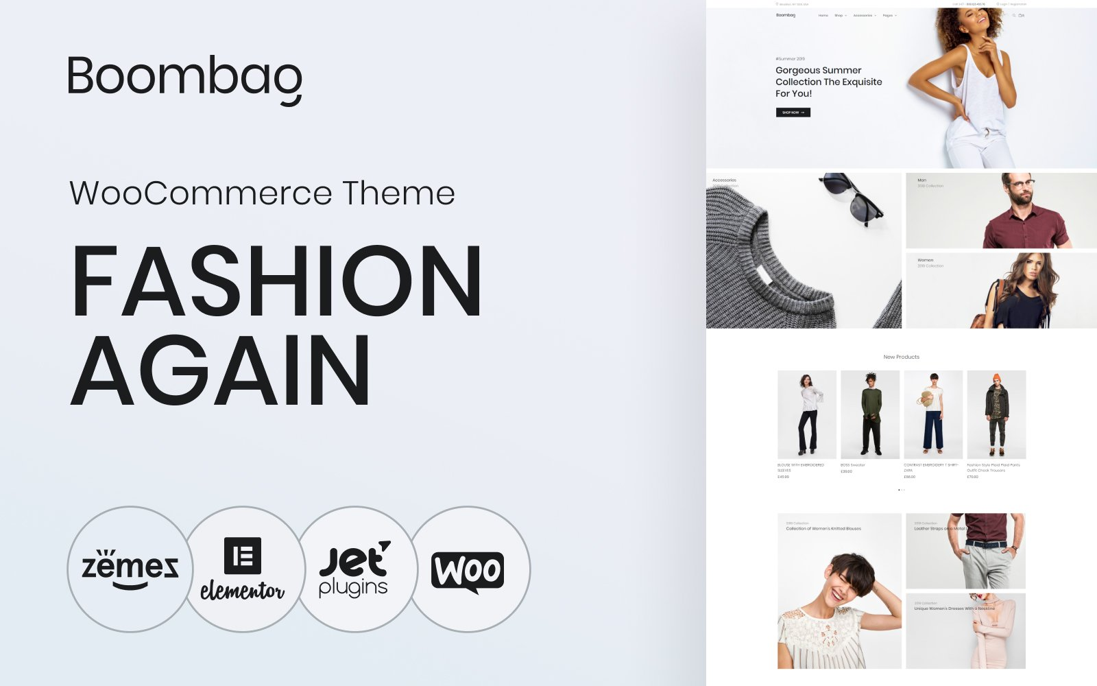 Boombag - Apparel ECommerce Modern Elementor WooCommerce Theme
