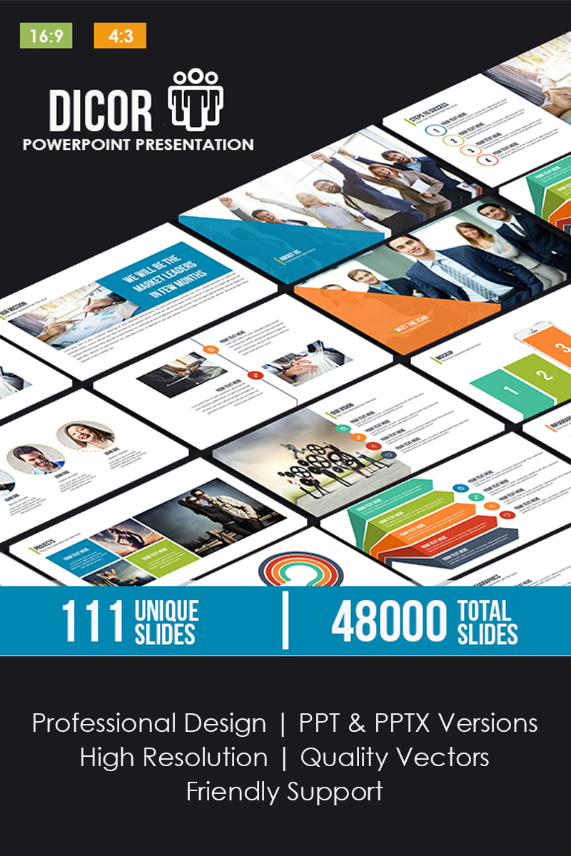 """Dicor"" PowerPoint Template №80758"