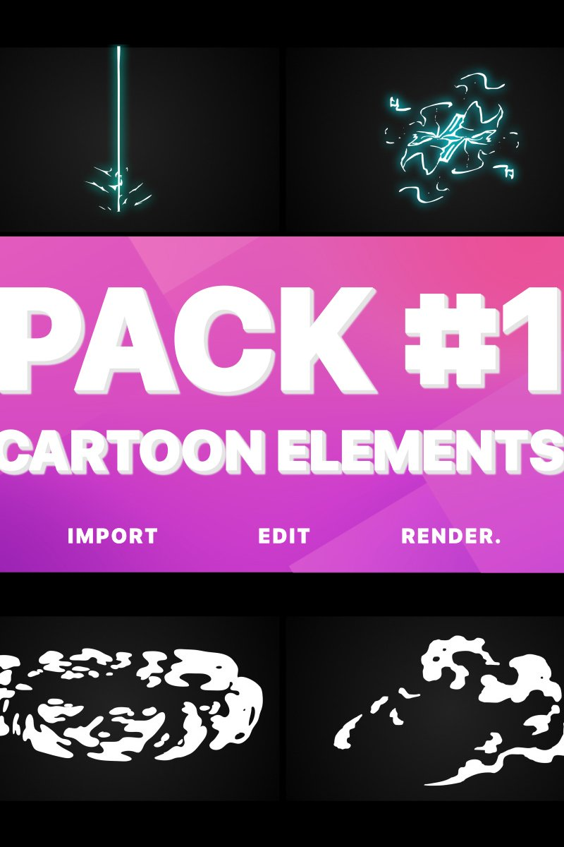 """""""Electricity, Smoke And Fire Elements"""" After Effects 屏保 #80703"""