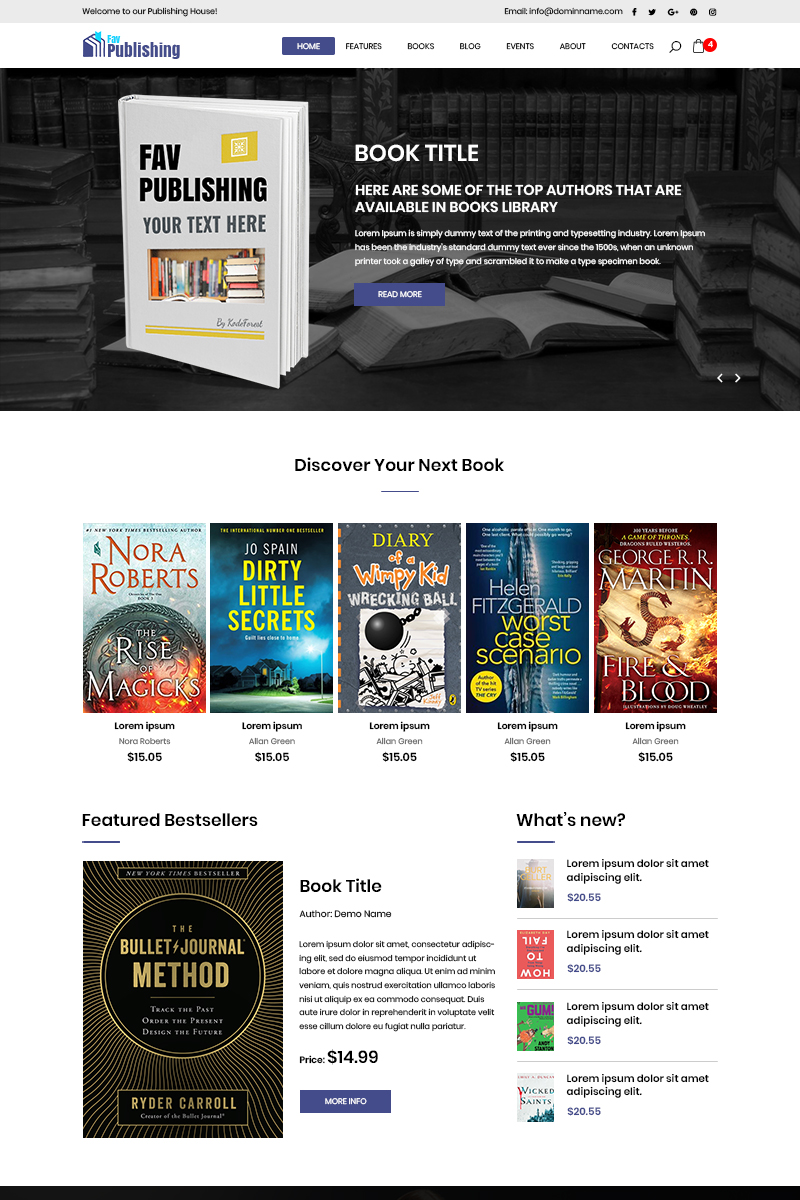 Fav Publishing - Book Publishing PSD-mall #80777