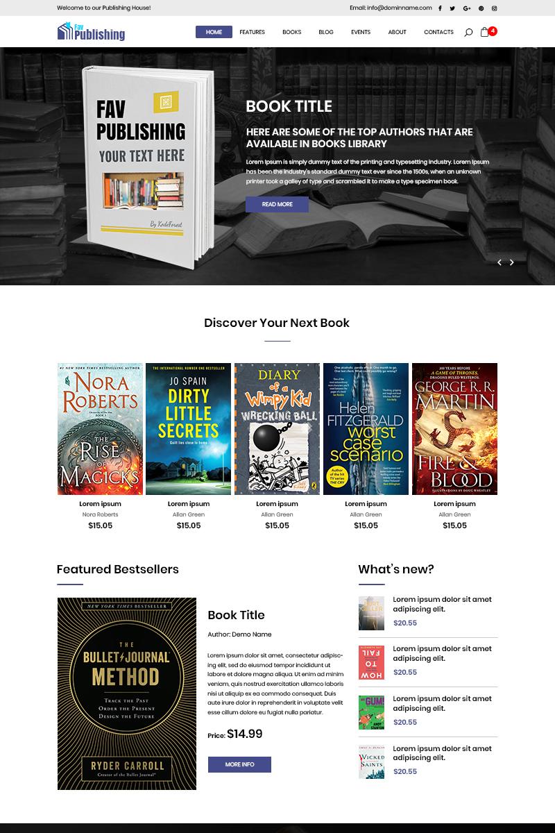 """Fav Publishing - Book Publishing"" - PSD шаблон №80777"