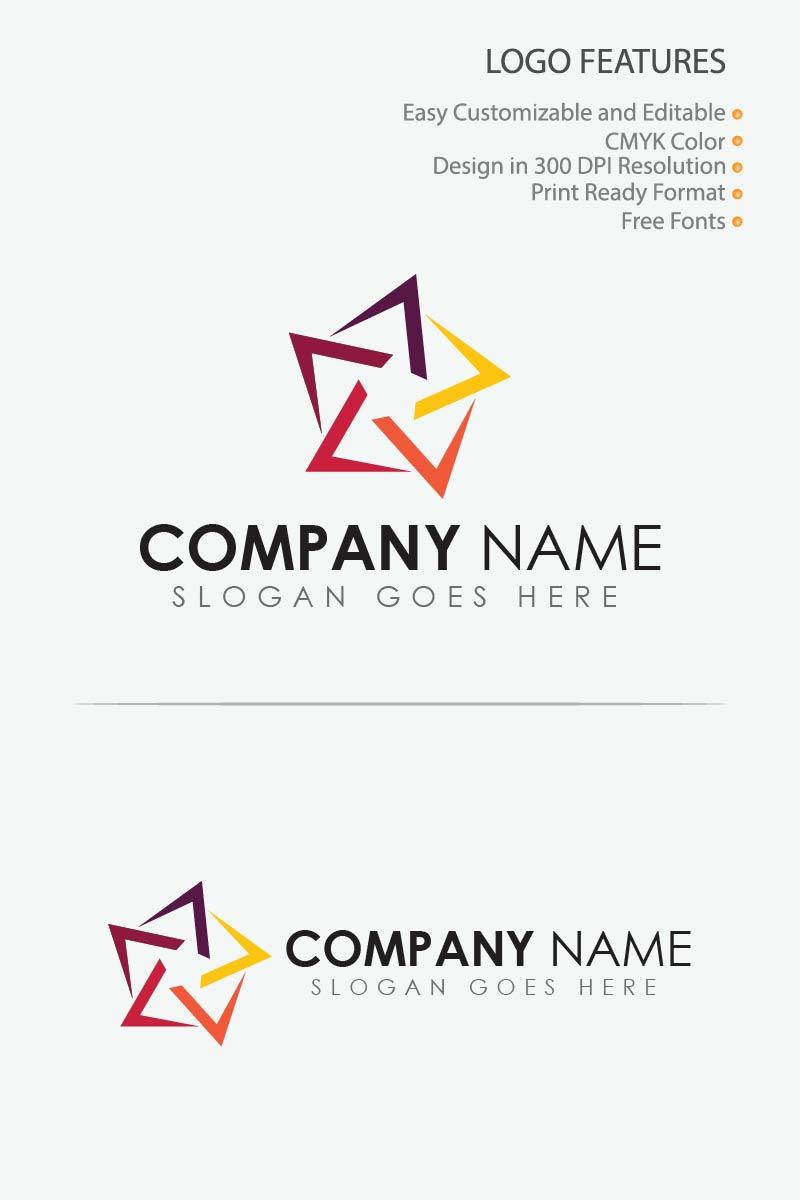 Geometric Star Template de Logotipo №80721