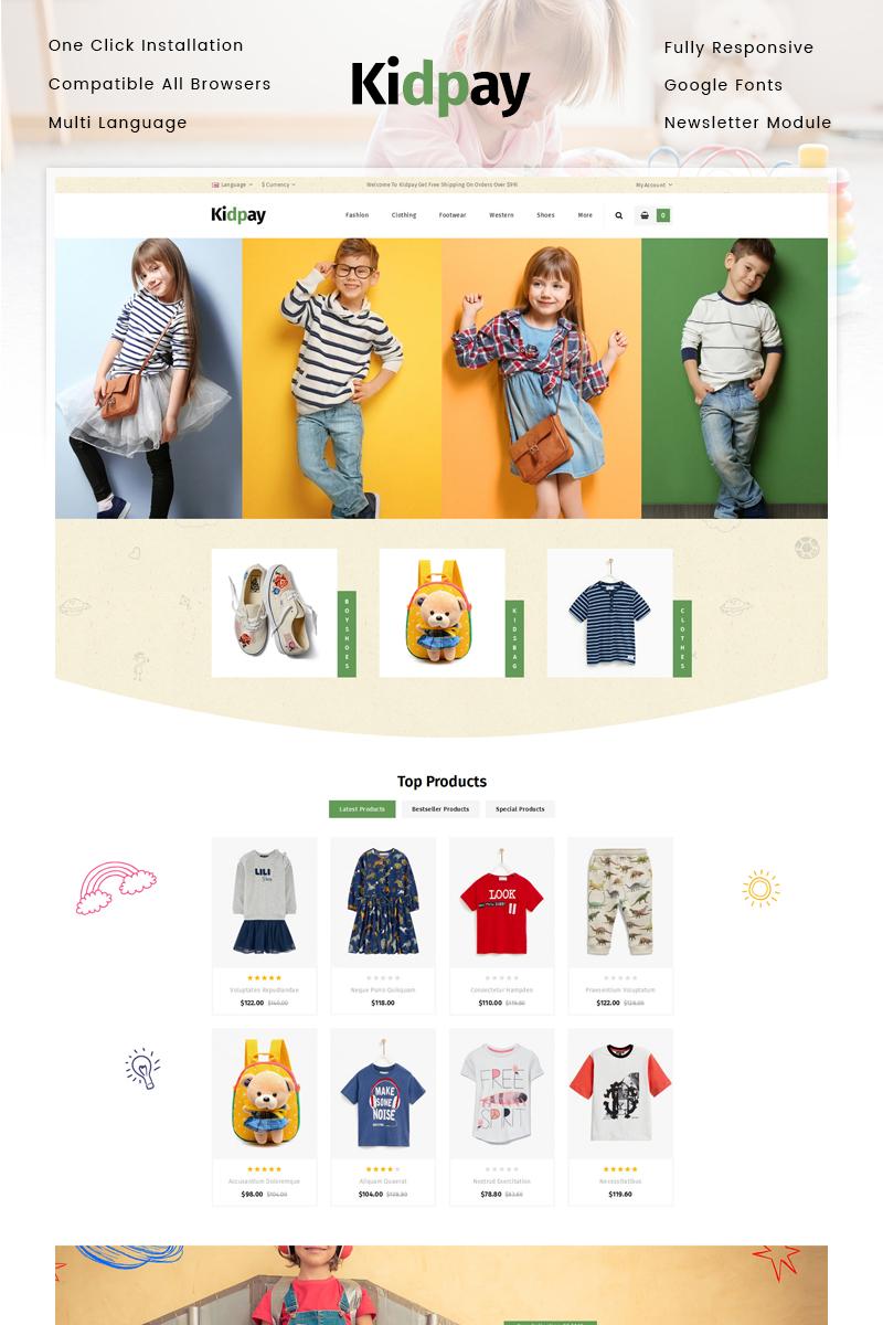 """Kidpay - Kids Store"" thème OpenCart adaptatif #80735"