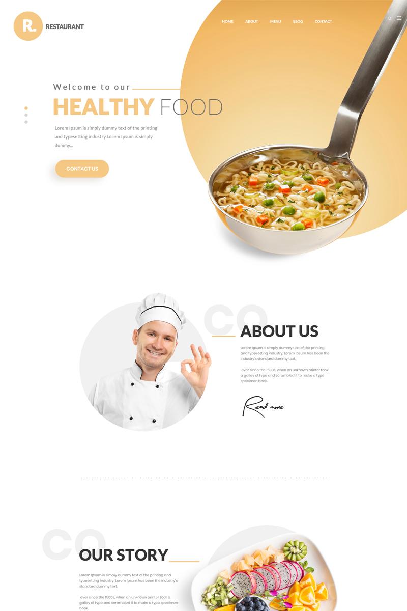 R-Restaurants PSD Template
