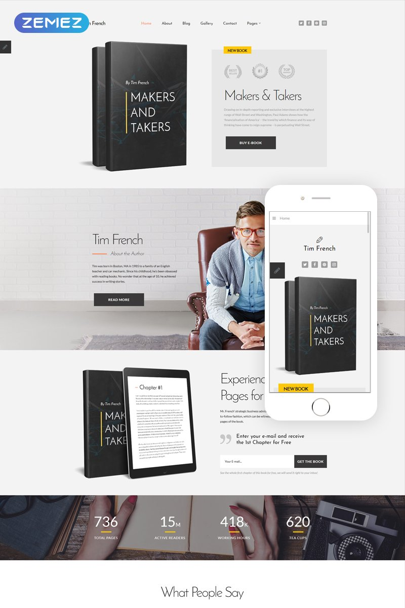 Responsive Tim French - Personal Pages Modern Joomla #80705