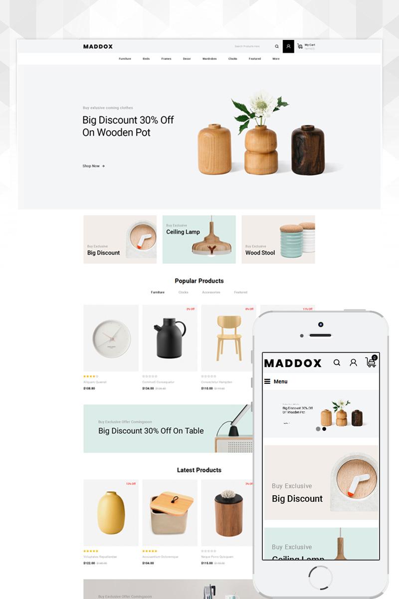 "Responzivní OpenCart šablona ""Maddox - Furniture Store"" #80757"