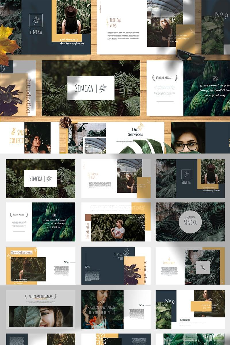 Sincka - Tropical Vibes PowerPoint Template