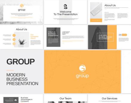 Group - Modern Business Google Slide
