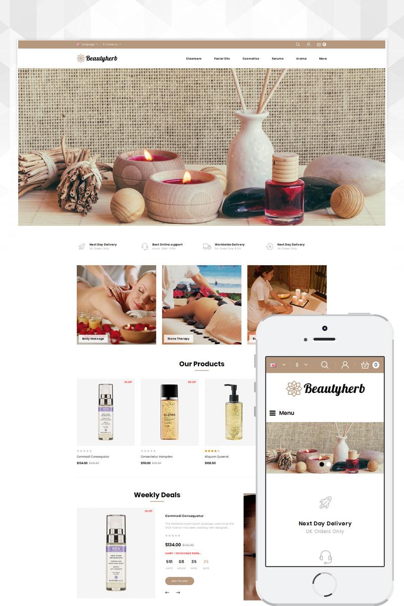 """BeautyHerb - Beauty Store"" 响应式OpenCart模板 #80885"