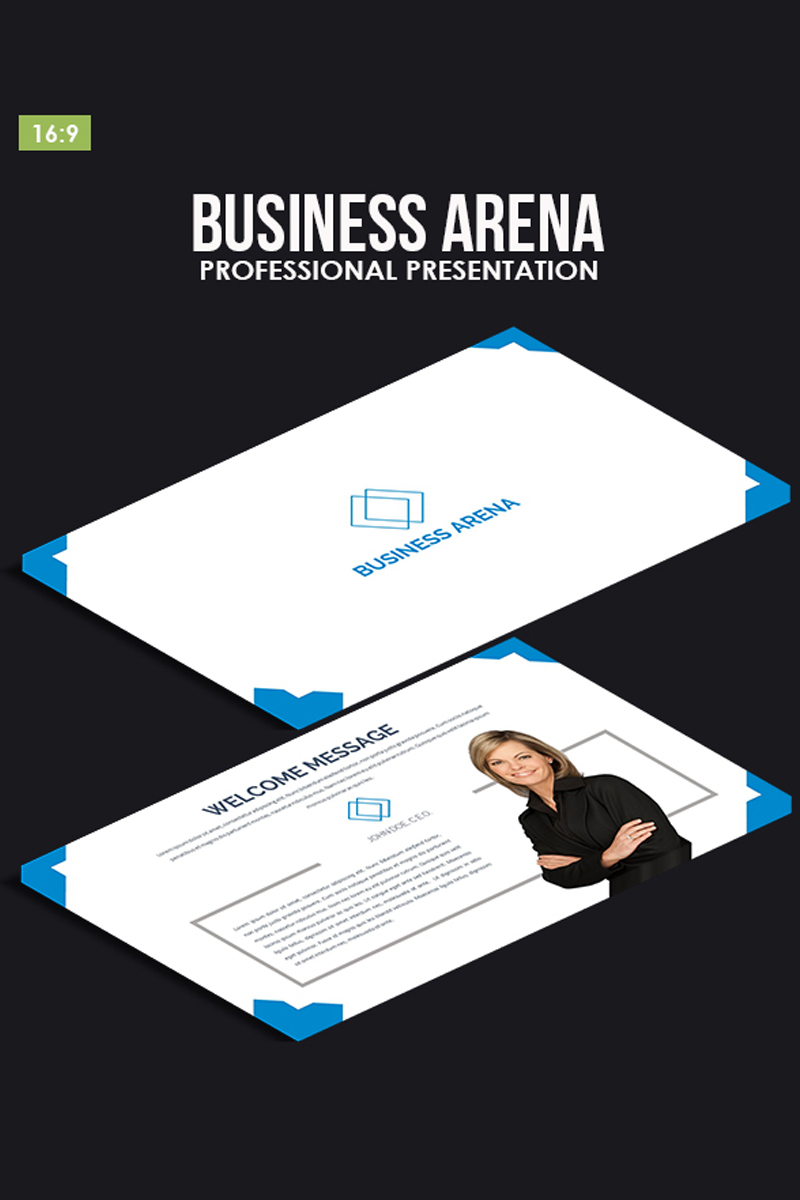 """Business Arena"" PowerPoint 模板 #80886"