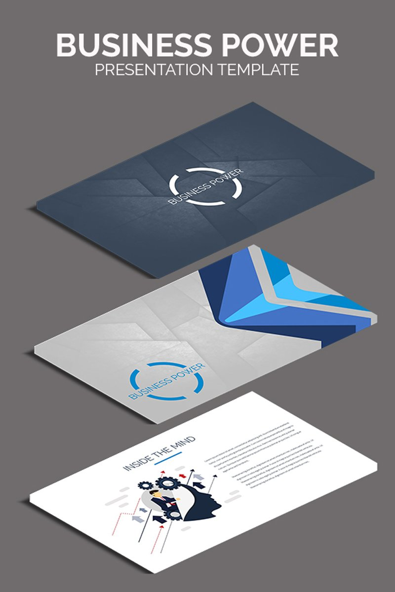 """Business Power"" PowerPoint Template №80895"
