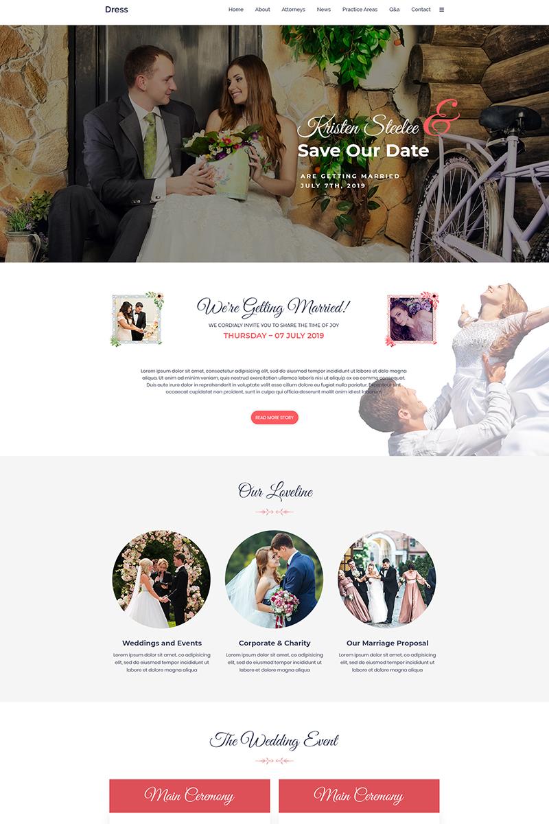 Dress - Wedding PSD Template