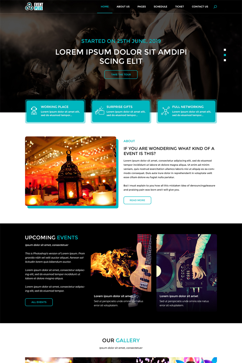 Eventplus - Event Management PSD Template