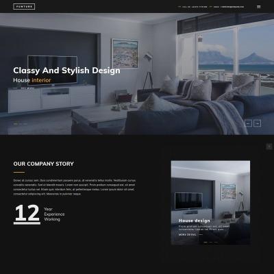 Thème WordPress adaptatif  pour site de design intérieur