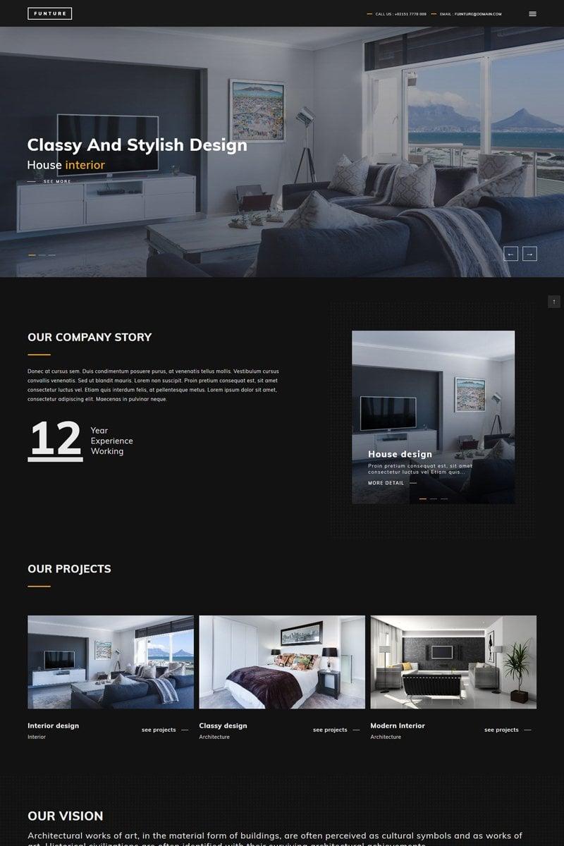 """FUNTURE - Interactive Architecture"" 响应式WordPress模板 #80807"