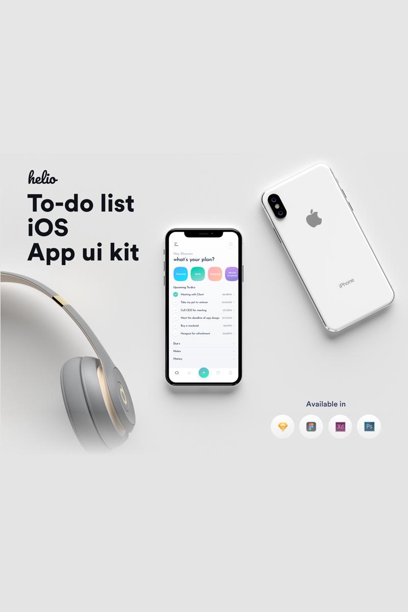 """Helio to-do list iOS UI kit"" UI元素 #80825"