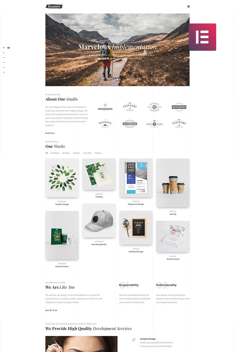 Imanus - Design Multipurpose Minimal Elementor WordPress Theme - screenshot
