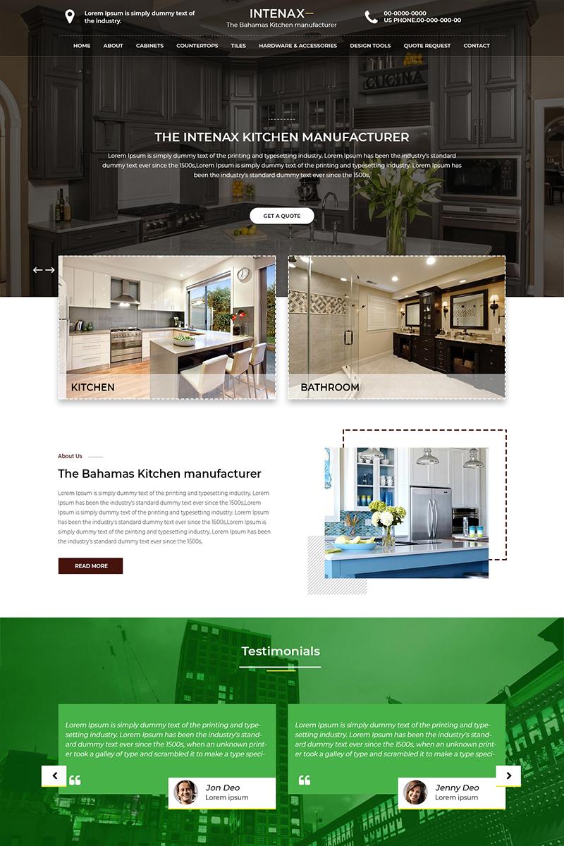 Intenax - Interior Design PSD Template