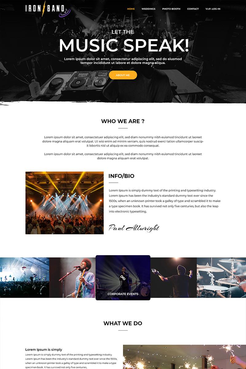 Iron Band - Music Band PSD Template