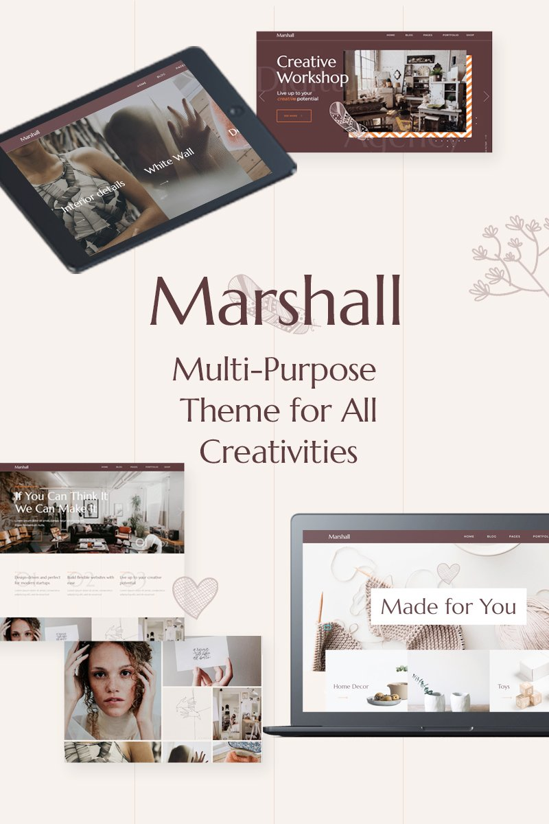 Marshall - A Creative Multipurpose Tema WordPress №80841