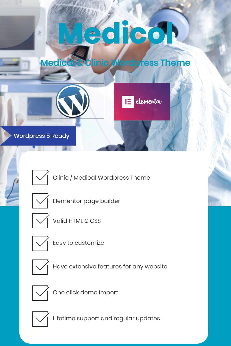 """Medicol - Elementor Bootstrap for Medical & Clinic"" thème WordPress adaptatif #80894"