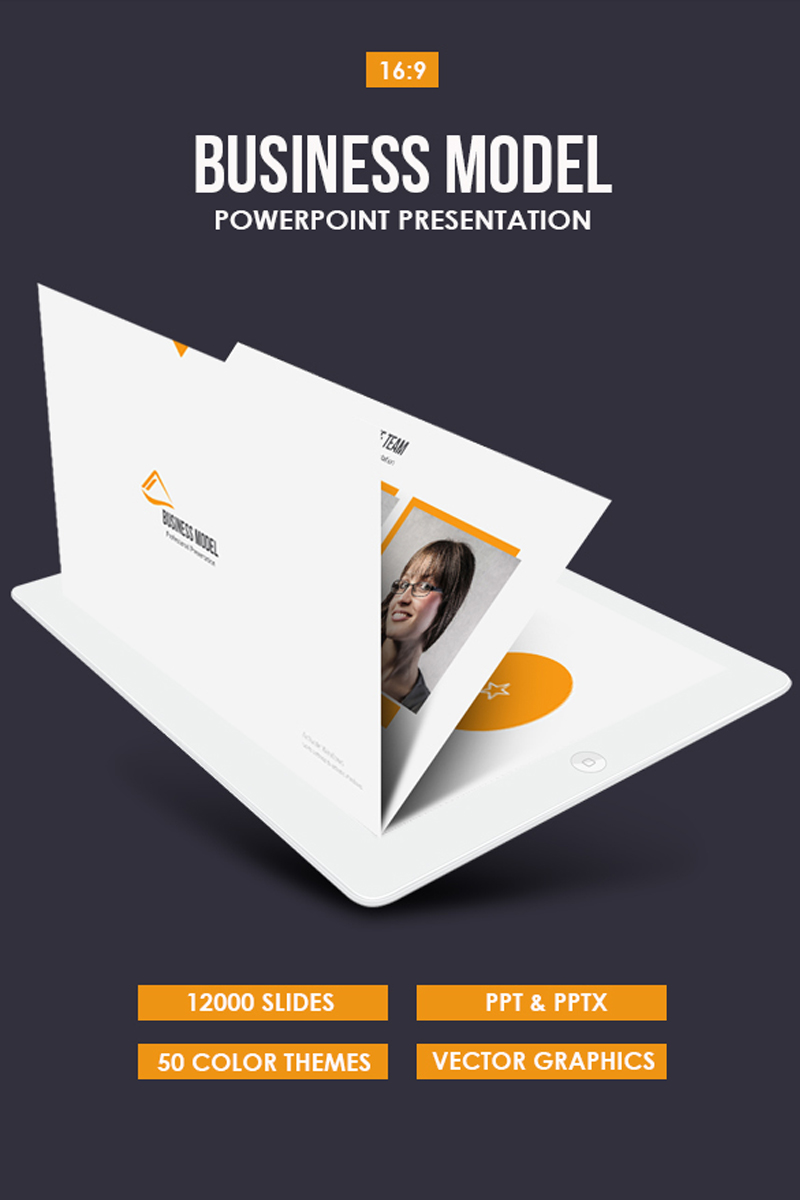 "Plantilla PowerPoint ""Business Model"" #80836"