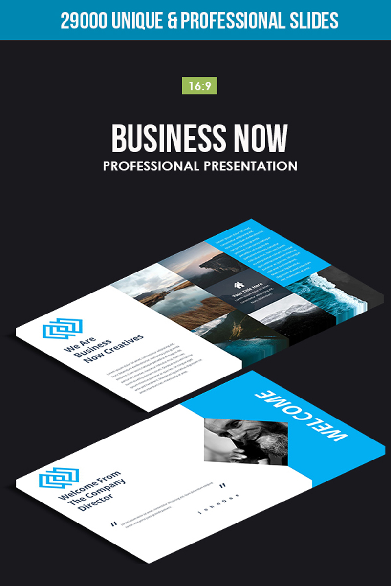 "Plantilla PowerPoint ""Business Now"" #80862"