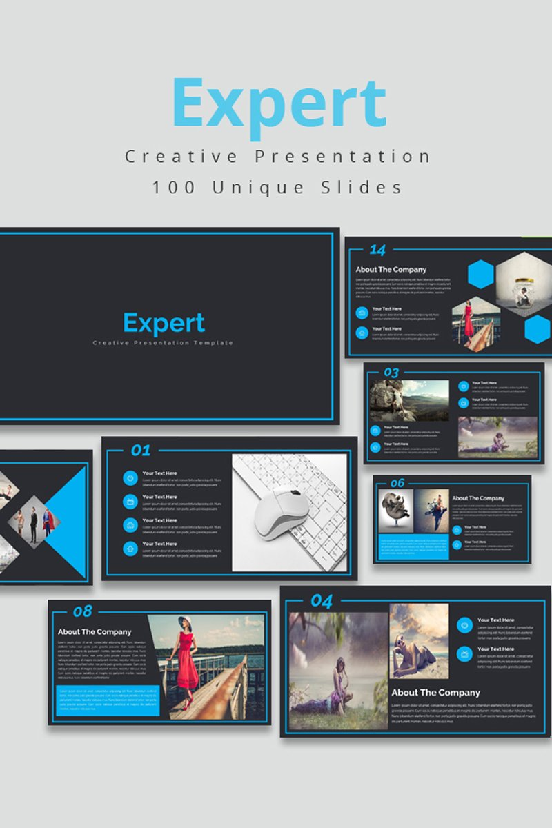 "Plantilla PowerPoint ""Expert"" #80824"
