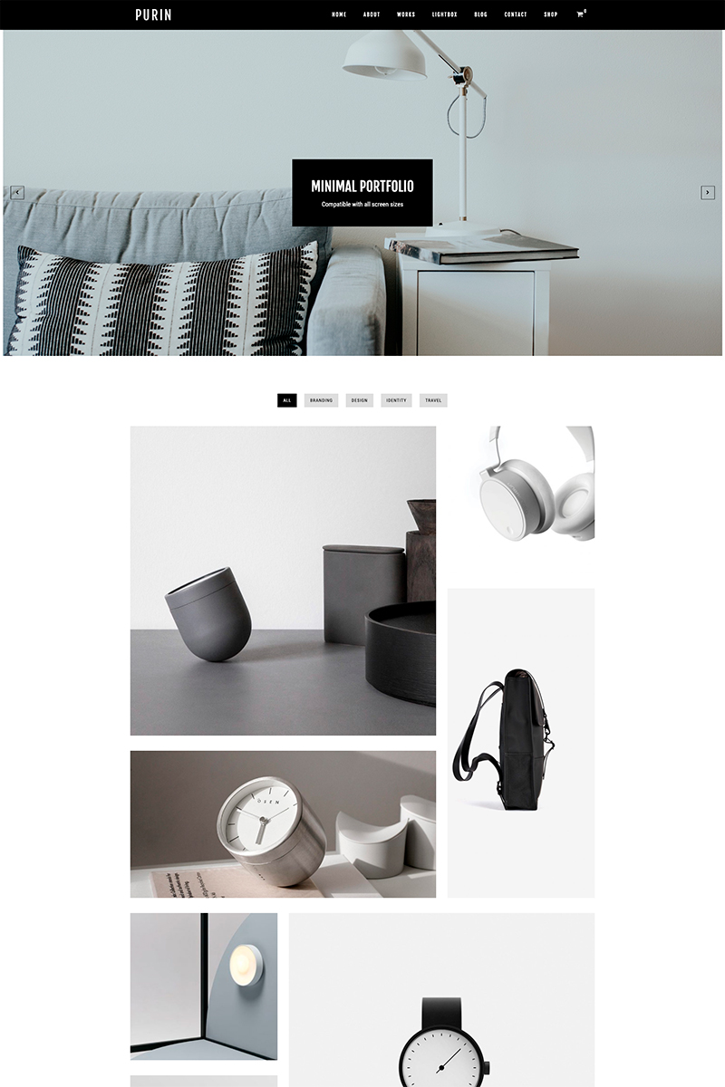 """Purin - Minimal Portfolio & WooCommerce"" - WordPress шаблон №80823"