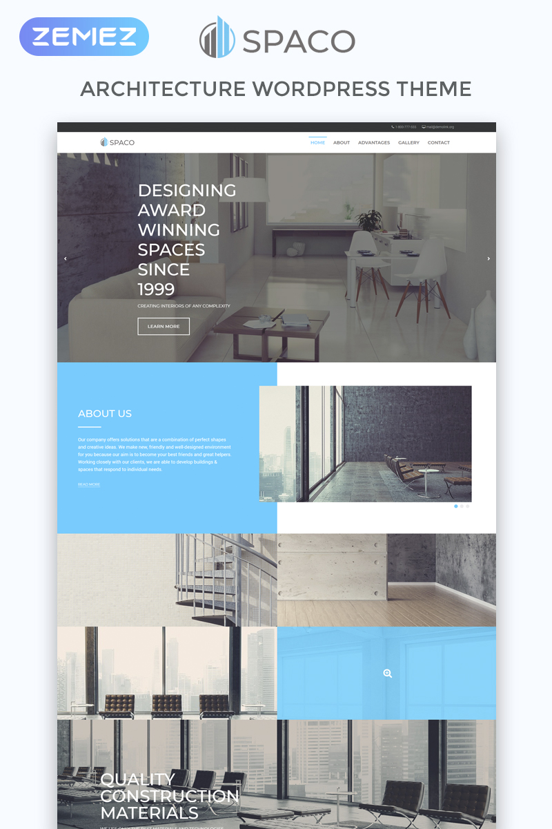 Spaco - Architecture Multipurpose Modern Elementor WordPress Theme - screenshot