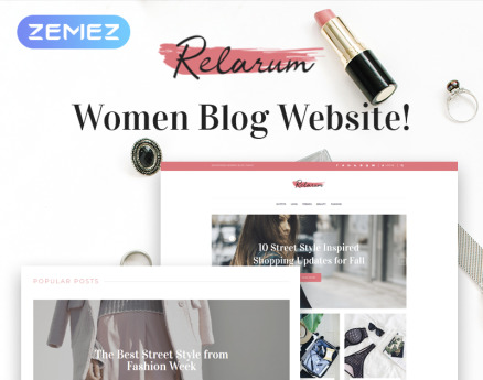 Relarum - Women Blog Multipurpose Classic Elementor WordPress Theme