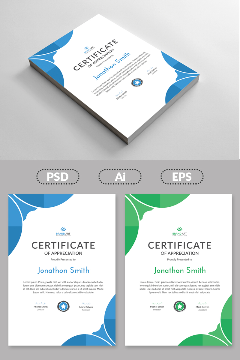 Abstract Design Certificate Template 80966