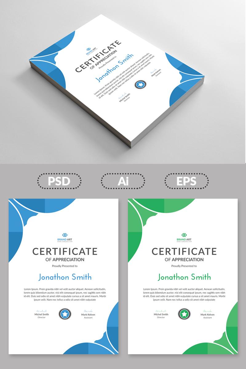 Abstract Design Template de Certificado №80966