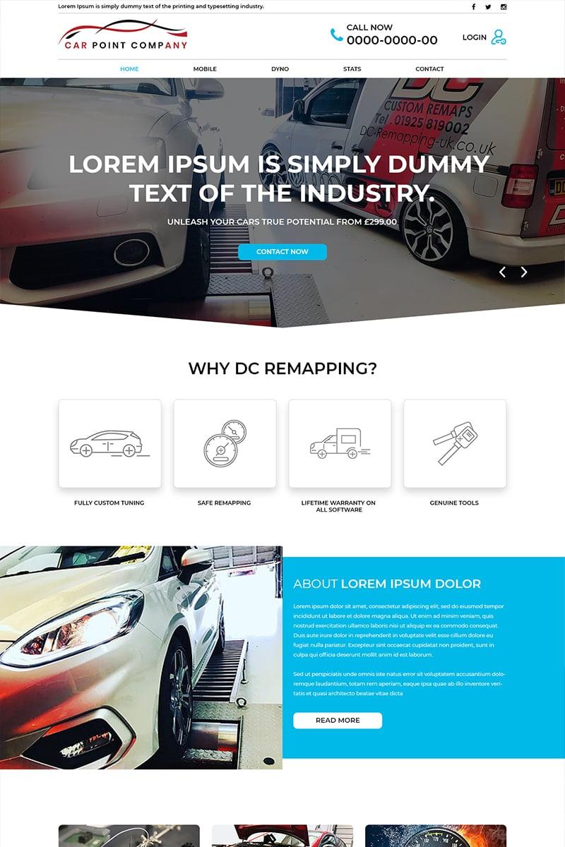Car Point- Car Service Company PSD Template