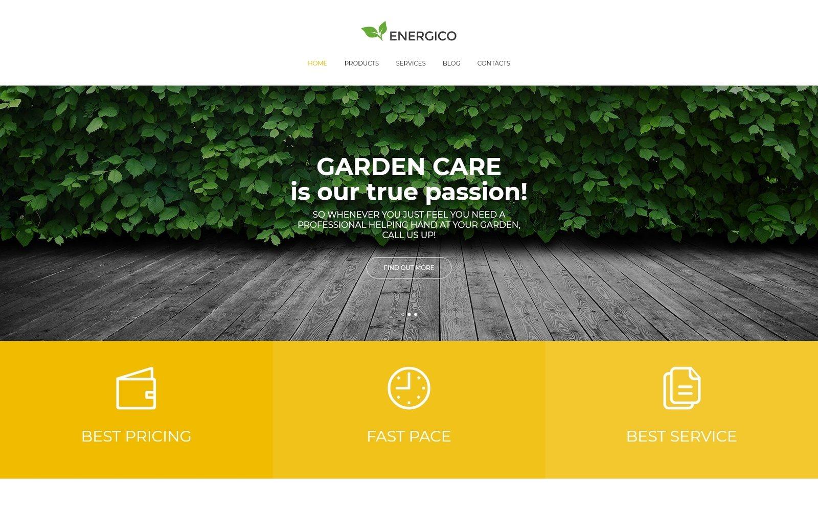 Energico - Agriculture Multipurpose Modern Elementor Tema WordPress №80996