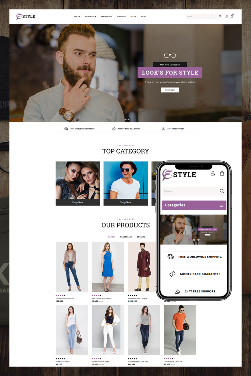 F-Style OpenCart Template