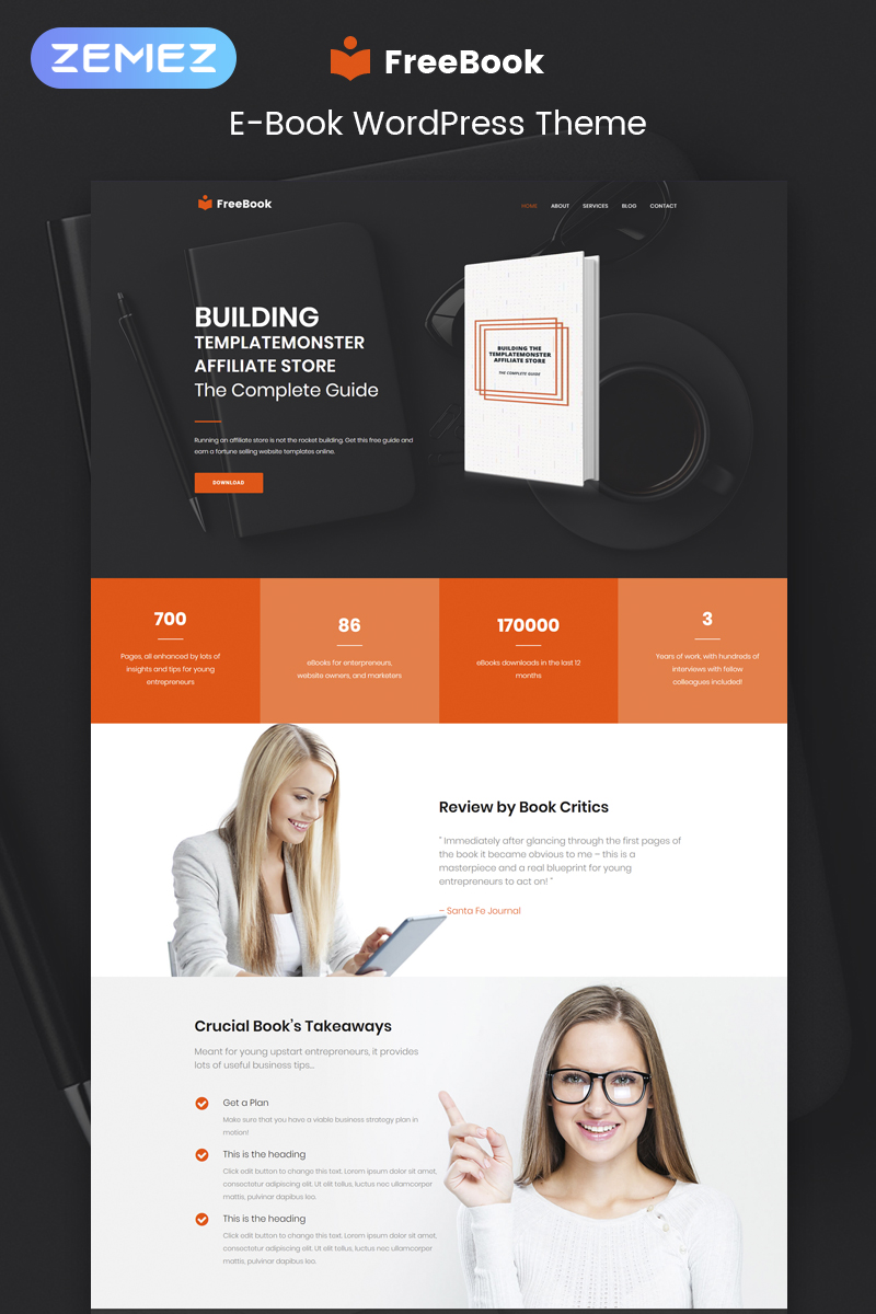 FreeBook - Ebooks Multipurpose Modern Elementor WordPress Theme