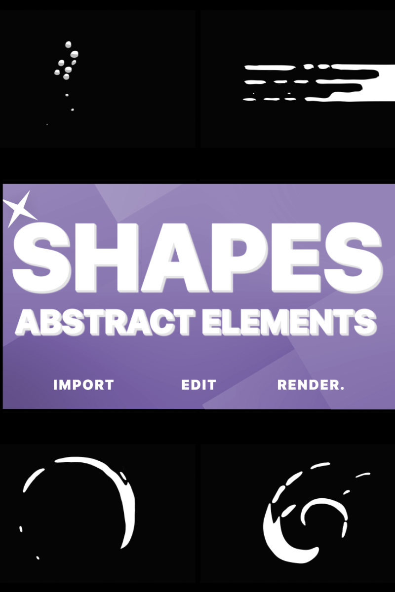 Funny Abstract Shapes After Effects Intro