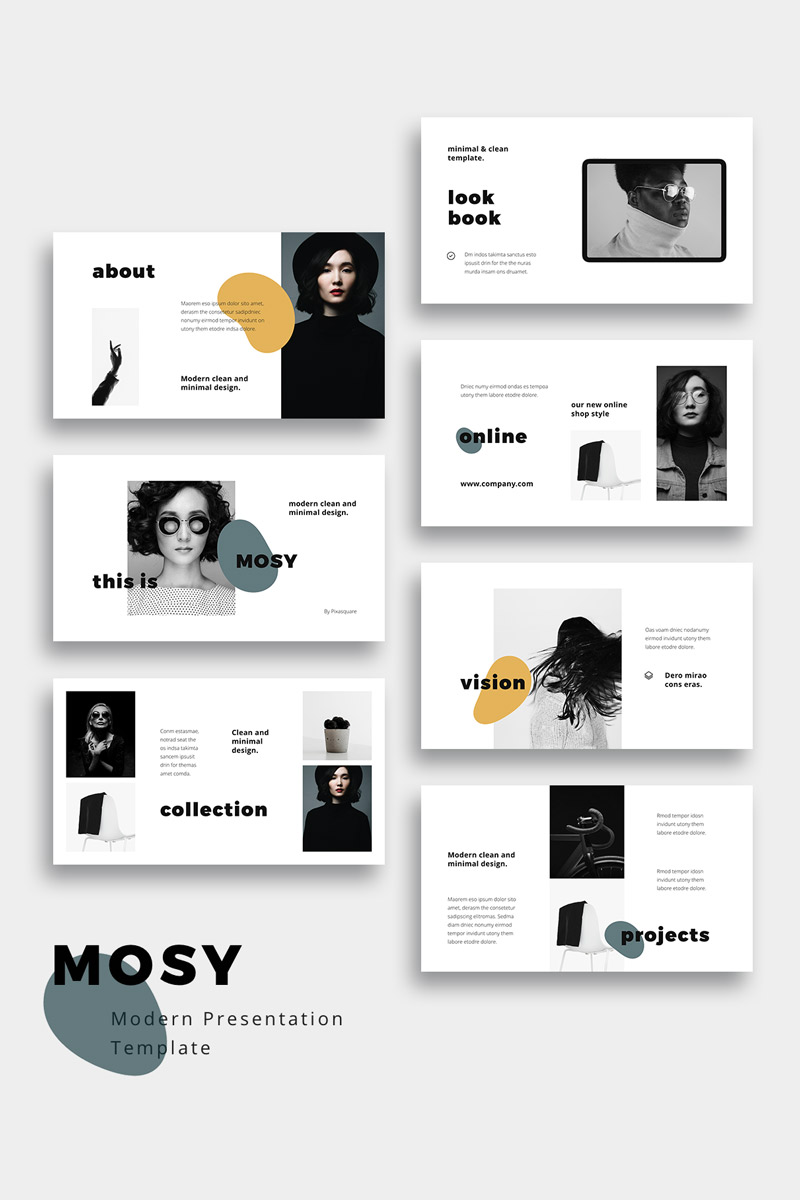 MOSY - Modern and Simple Google Slides #80945