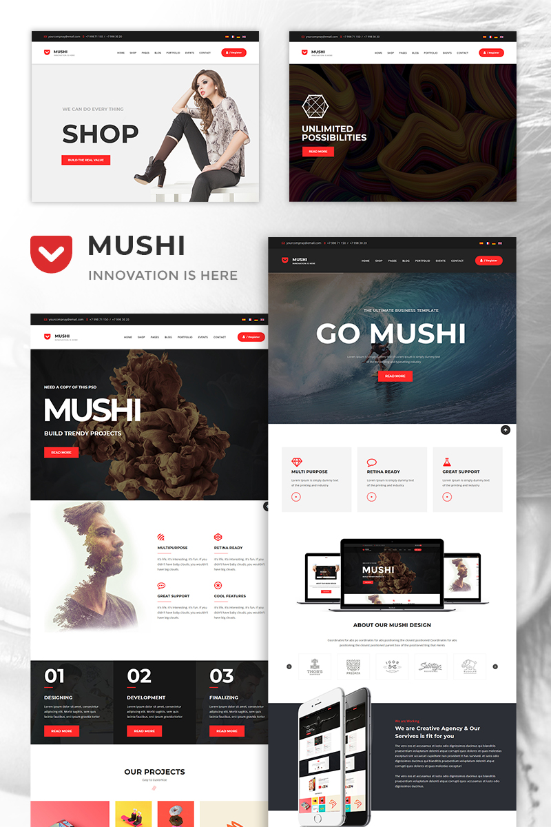 Mushi - The MultiPurpose Responsive Corporate Joomla Template
