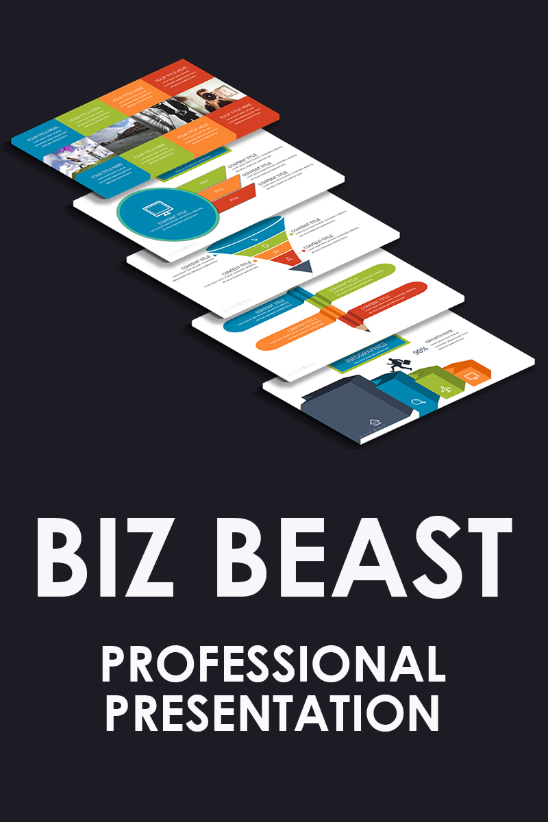 "Plantilla PowerPoint ""Biz Beast"" #80903 - captura de pantalla"