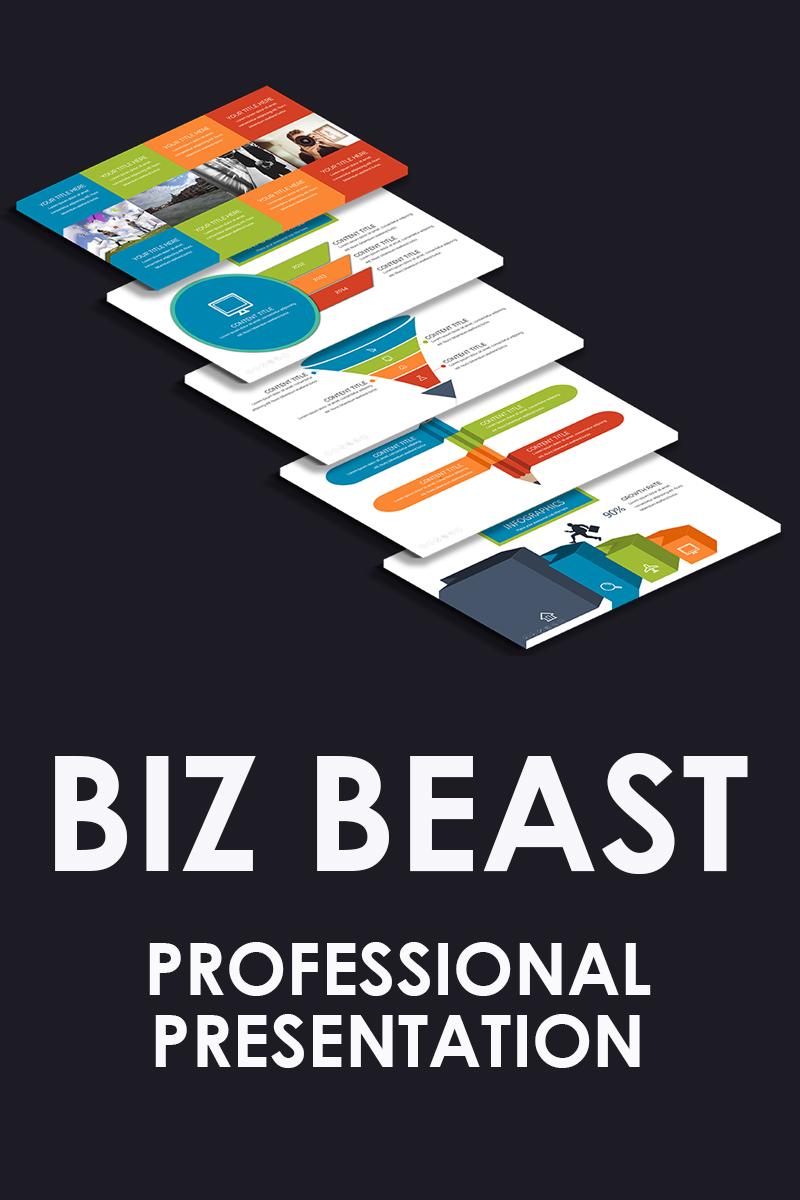 """PowerPoint šablona """"Biz Beast"""" #80903"""