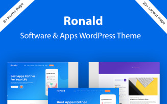 Ronald - Software & App Landing WordPress Theme